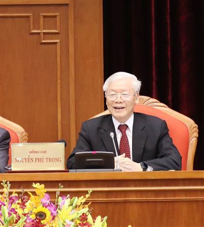Cận cảnh khai mạc Hội nghị Trung ương 10 - Ảnh 9.