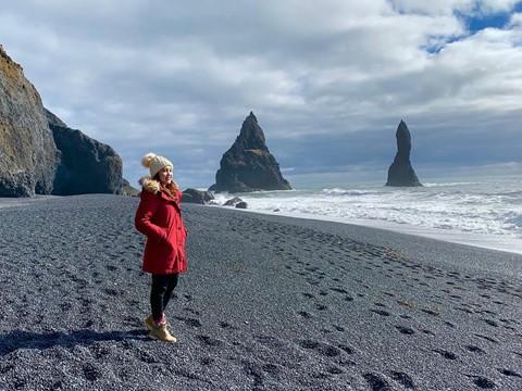 Bãi biển cát đen đẹp huyền ảo không ai được phép tắm ở Iceland - Ảnh 4.