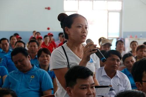 Quảng Nam: Lãnh đạo tỉnh đối thoại với công nhân - Ảnh 1.