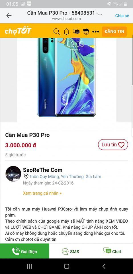 Điện thoại Huawei bị dìm giá trên thị trường - Ảnh 2.