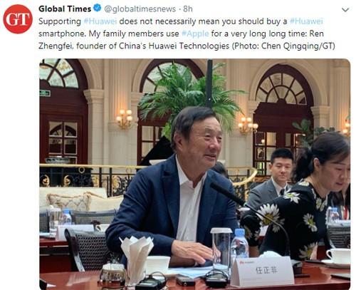 """Nhà sáng lập Huawei: """"Gia đình tôi vẫn sử dụng sản phẩm Apple"""" - Ảnh 2."""