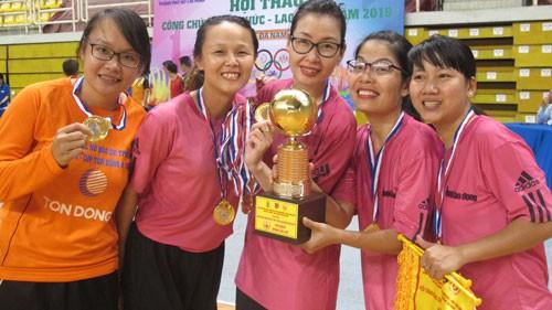 Hội thao Công chức - Viên chức - Lao động TP HCM 2019: Liên đoàn Lao động TP HCM vô địch bóng đá nữ - ảnh 1