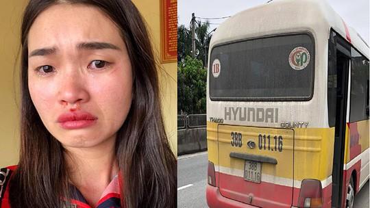 """Vu xe buyt """"du"""" giat toc danh chay mau mui co gai Phat vo chong chu xe 5 trieu dong"""