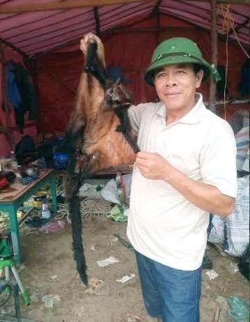 Hình ảnh chồn bay quý hiếm trước khi bị sát hại được đăng tải trên Facebook của chủ tài khoản Thang Dang Quang