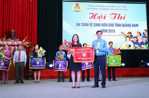 Quảng Nam: Công đoàn ngành Y tế đoạt giải nhất hội thi an toàn - vệ sinh viên giỏi - Ảnh 1.