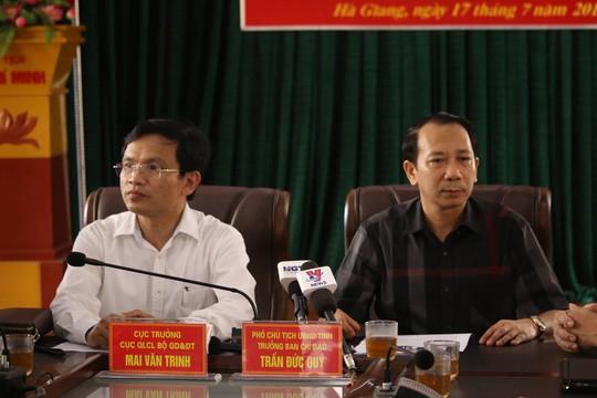 Vụ gian lận thi cử ở Hà Giang: Kỷ luật Cảnh cáo phó chủ tịch tỉnh và nguyên Giám đốc Sở GD-ĐT - Ảnh 1.