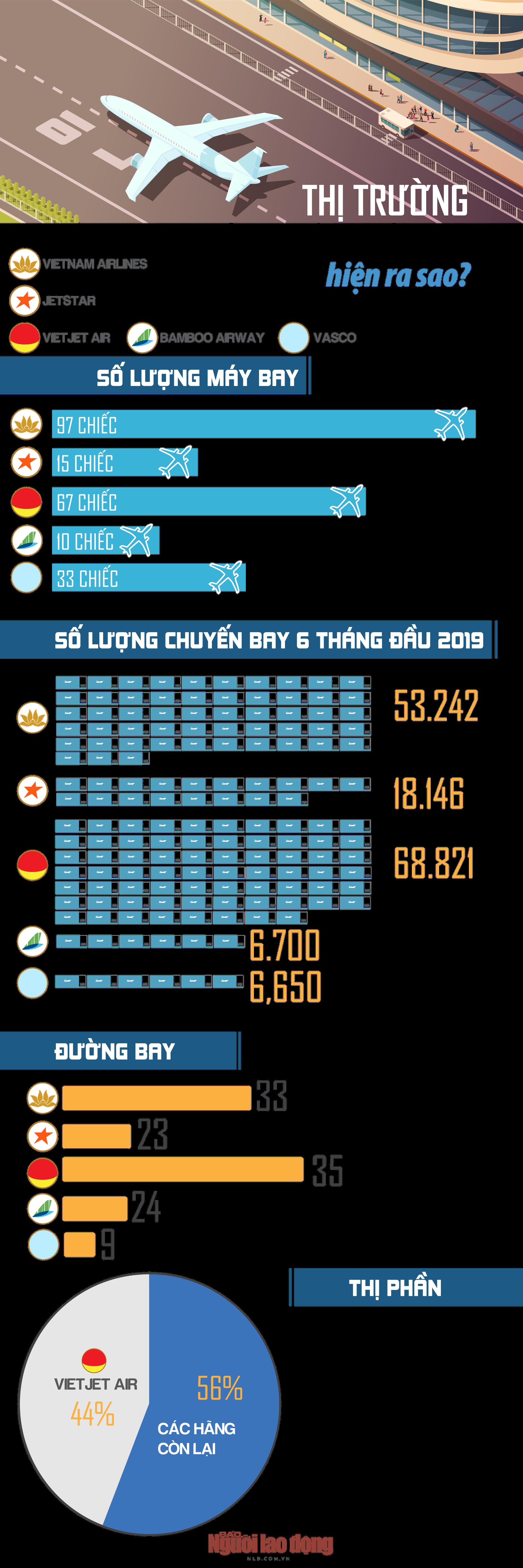 [Infographic] - Thị trường hàng không Việt Nam hiện ra sao? - ảnh 1