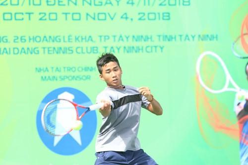 Vũ Hà Minh Đức vào bán kết giải quần vợt trẻ quốc tế - Ảnh 1.
