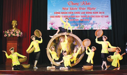 HÀ NỘI: Hội diễn văn nghệ mừng ngày thành lập Công đoàn Việt Nam - Ảnh 1.