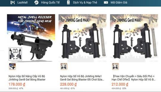 TP HCM công bố kết quả thanh tra Lazada bán thiết bị lắp ráp súng - ảnh 1