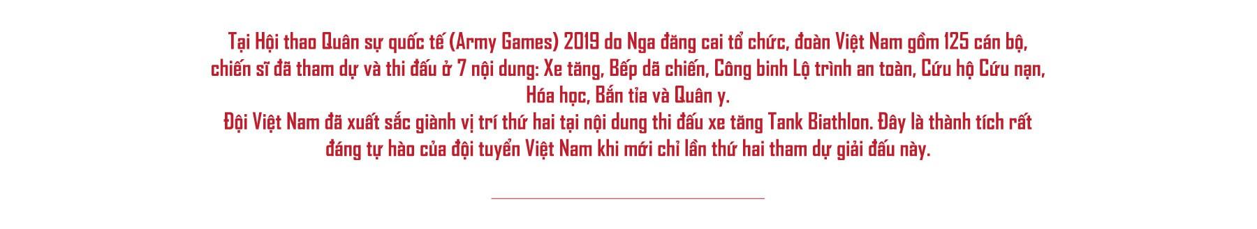 [eMagazine] - Hội thao quân sự quốc tế 2019: Dấu ấn đội tuyển xe tăng Việt Nam - Ảnh 1.