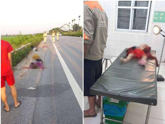 Chồng điều khiến xe máy gặp tai nạn, vợ cùng 2 con nhỏ ngã xuống đường tử vong - Ảnh 1.