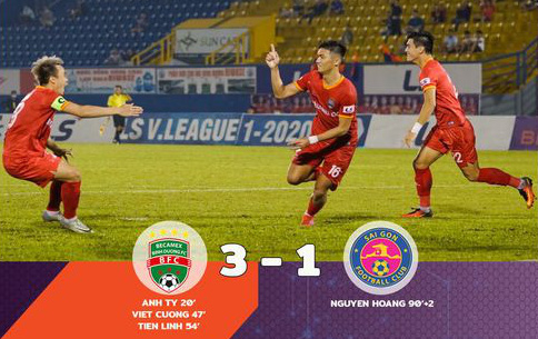 Sài Gòn FC thảm bại trên sân của Becamex Bình Dương - Ảnh 1.
