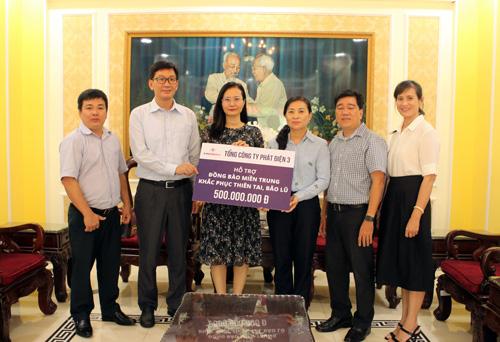 EVNGENCO 3 hỗ trợ 500 triệu đồng cho đồng bào miền Trung - Ảnh 1.