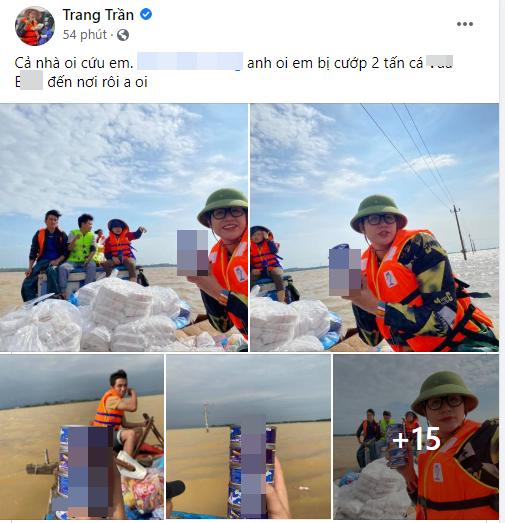 Lùm xùm chuyện Trang Trần tố bị nhà xe ăn chặn 2 tấn hàng cứu trợ miền Trung - Ảnh 1.