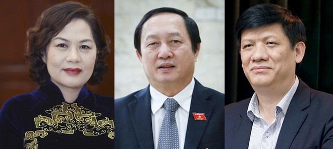 Phê chuẩn bổ nhiệm 2 Bộ trưởng Y tế và KH-CN, Thống đốc NHNN với tỉ lệ phiếu từ 92,09%-97,08% - Ảnh 1.