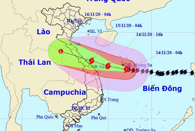 Bão số 13 mạnh thêm, giật cấp 17, hướng vào từ Hà Tĩnh-Quảng Nam - Ảnh 1.