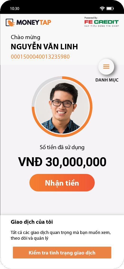 MoneyTap mang ứng dụng kết nối hạn mức tín dụng đến Việt Nam - Ảnh 1.