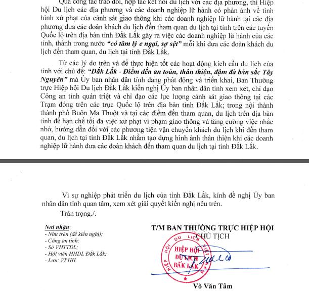 Hiệp hội Du lịch Đắk Lắk đề nghị CSGT hạn chế tối đa... xử phạt vi phạm giao thông! - Ảnh 1.