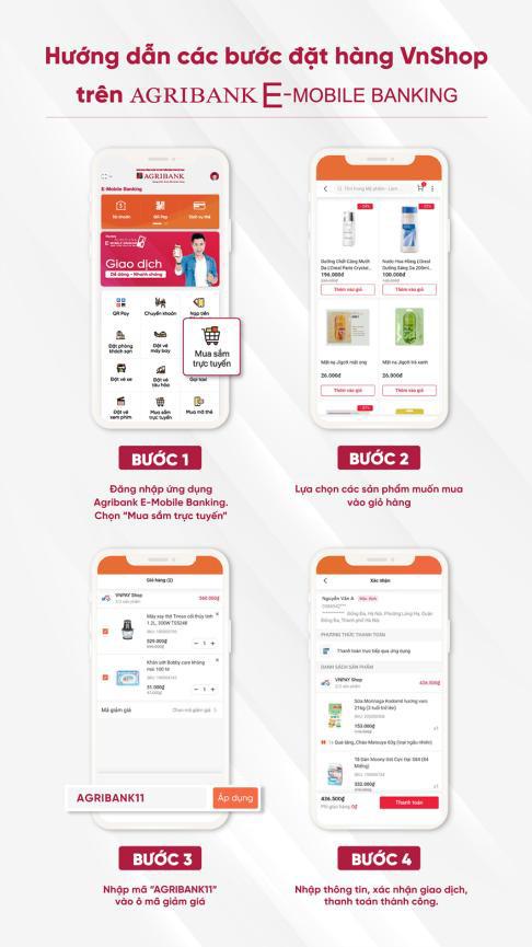 """Chương trình """"Siêu mua sắm tháng 11"""" trên siêu thị điện tử Vnshop của ứng dụng Agribank E-Mobile Banking. - Ảnh 2."""