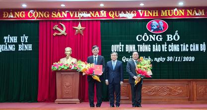 Quảng Bình và Quảng Nam điều động, bổ nhiệm nhiều lãnh đạo chủ chốt - Ảnh 2.