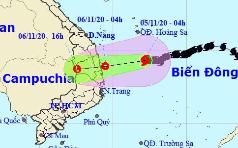 Bão số 10 sẽ suy yếu thành áp thấp nhiệt đới trước khi đổ bộ, miền Trung mưa lớn - Ảnh 1.