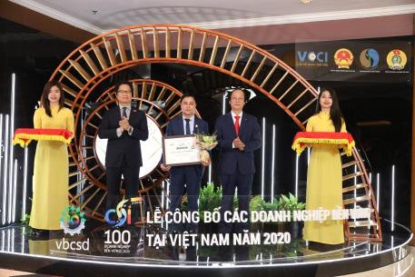 Yến sào Khánh Hòa vào Top 100 doanh nghiệp phát triển bền vững năm 2020 - Ảnh 1.