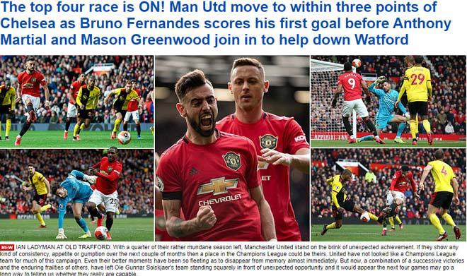 Tân binh Fernandes rực sáng, Man United bay vào Top 5 - Ảnh 1.