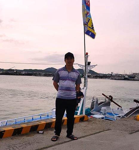 Hình ảnh ông Trần Quang Sơn khi đang lao động tại Hàn Quốc - ảnh do người nhà cung cấp