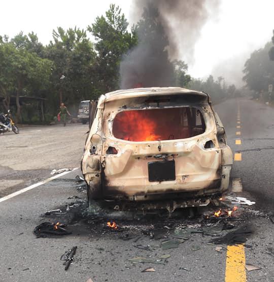 Giám định ADN tìm danh tính 2 người chết trong ôtô cháy sau tiếng nổ lớn ở Quảng Nam - Ảnh 3.