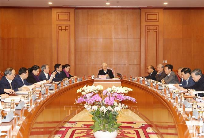 Tổng Bí thư, Chủ tịch nước Nguyễn Phú Trọng chủ trì họp Tiểu ban Văn kiện Đại hội XIII - Ảnh 2.