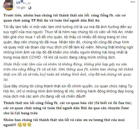Nhóm người hóa trang ăn xin phản cảm ở Hội An lên Facebook xin lỗi - Ảnh 1.