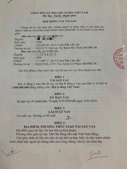 Đắk Lắk: Con gái 1 Phó giám đốc Công an tỉnh bị tố vay 5 tỉ đồng không trả - Ảnh 1.