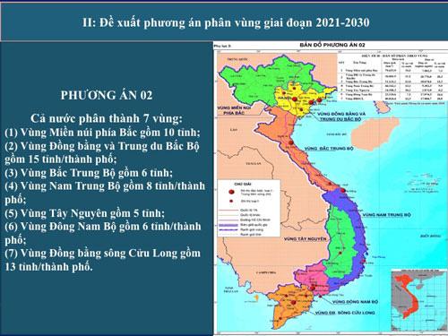 Phân chia lại các vùng kinh tế trên cả nước - Ảnh 1.