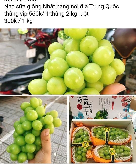 Nho sữa Trung Quốc loạn giá trên chợ mạng - Ảnh 2.