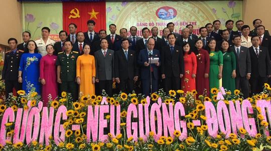 Ông Nguyễn Văn Tuấn tái đắc cử Bí thư Thành ủy Bến Tre - Ảnh 1.