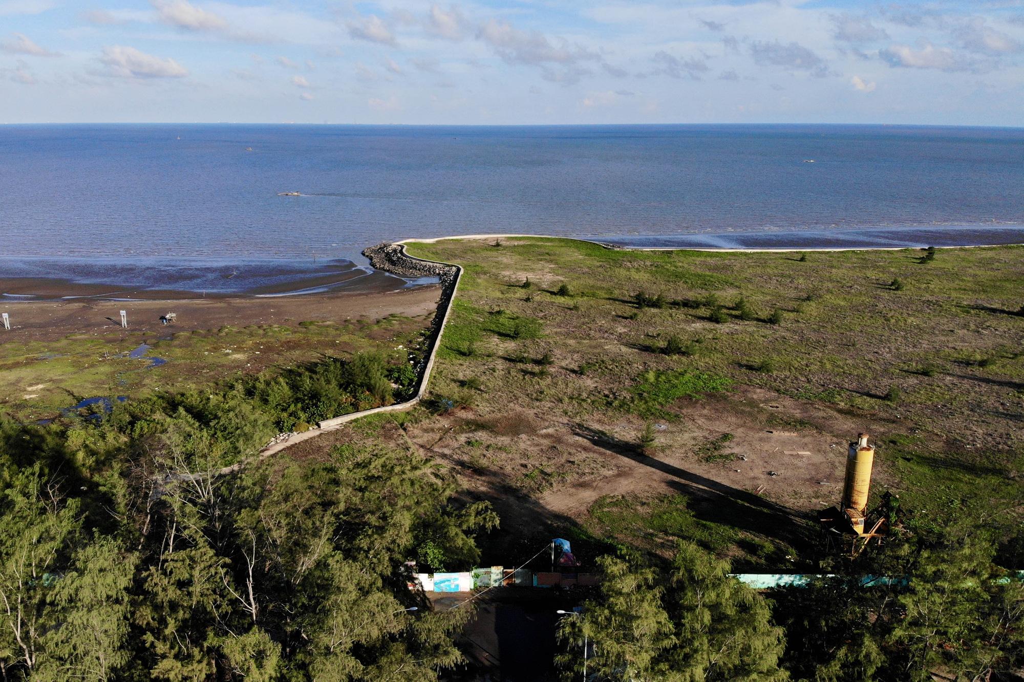 Hiện trạng Dự án Khu đô thị du lịch lấn biển Cần Giờ - Ảnh: Báo NLĐ