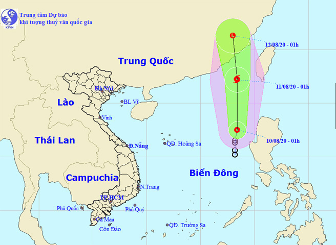 Áp thấp nhiệt đới trên Biển Đông có khả năng mạnh lên thành bão - Ảnh 1.