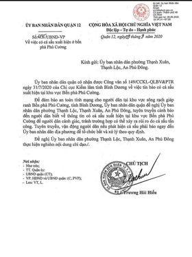UBND quận 12 cảnh báo cá sấu xuất hiện trên sông Sài Gòn - Ảnh 1.
