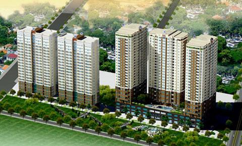 Ngân hàng rao bán dự án chung cư hơn 2.300 tỉ đồng ở TP HCM - Ảnh 1.