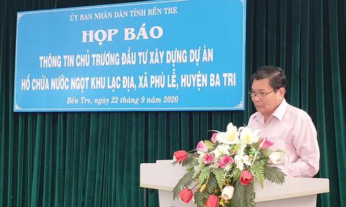 Bến Tre đầu tư hơn 350 tỉ đồng xây hồ chứa nước ngọt phục vụ nhân dân - Ảnh 1.