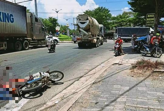 Ninh Thuận: Thăm bệnh, bị xe bồn cán, 1 người chết, 1 người bị thương - Ảnh 1.