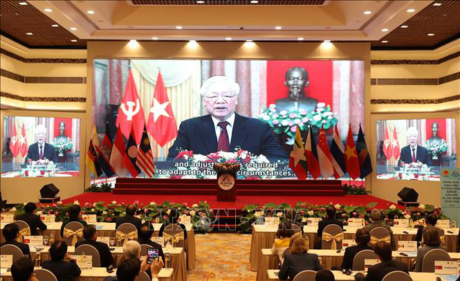 Tổng Bí thư, Chủ tịch nước Nguyễn Phú Trọng phát biểu chào mừng AIPA 41 - Ảnh 9.