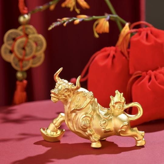 Trước ngày Thần Tài, trâu vàng 9999 tràn ngập thị trường - Ảnh 4.