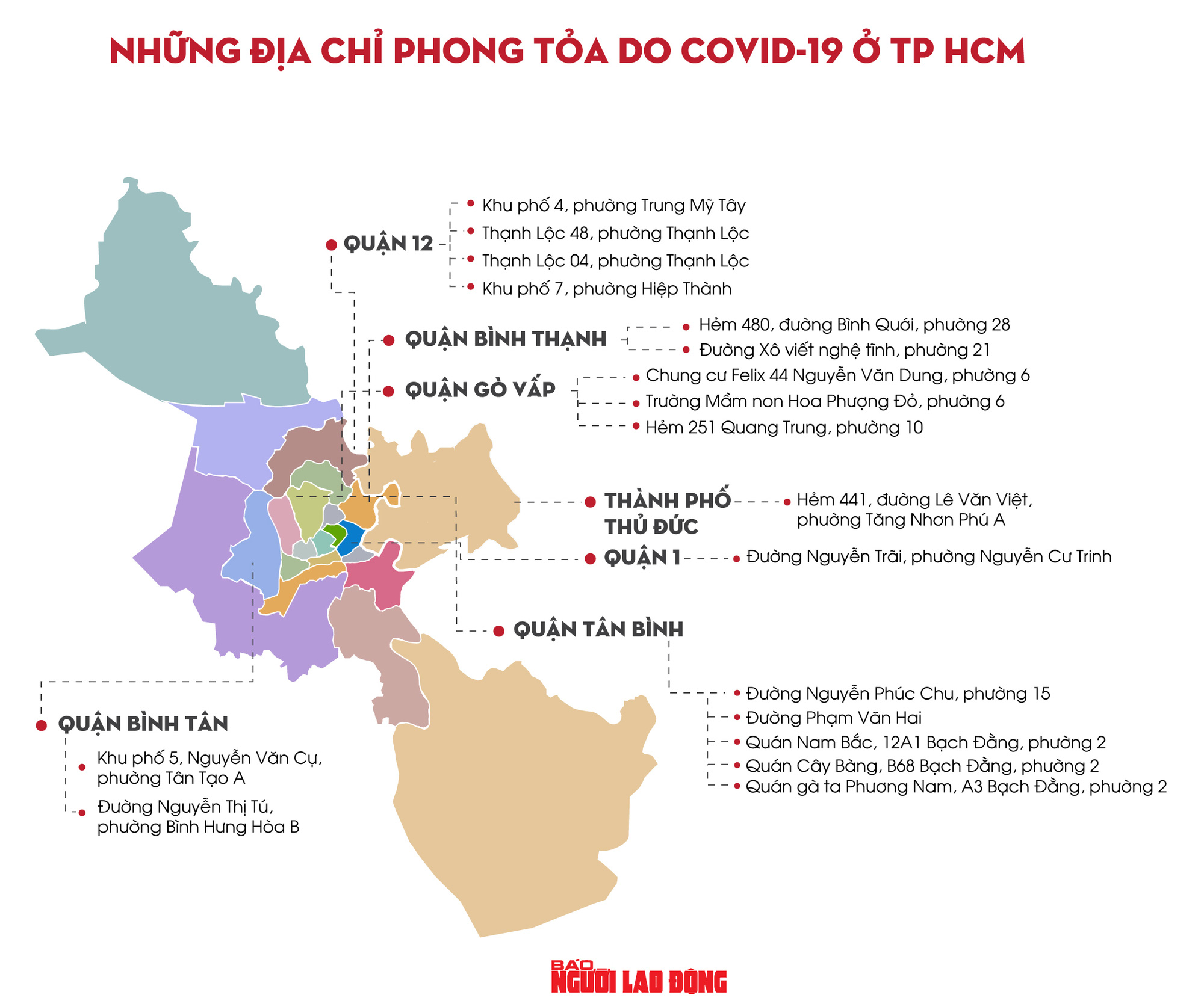 TP HCM: 18 địa điểm bị phong tỏa do Covid-19, mọi người cần biết - Ảnh 1.