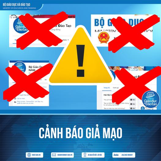 Cảnh báo nhiều trang thông tin mạo danh Bộ GD-ĐT và Bộ trưởng Nguyễn Kim Sơn - Ảnh 1.