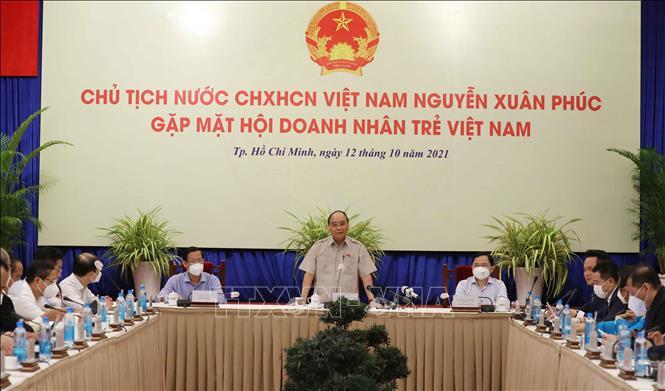 Chủ tịch nước Nguyễn Xuân Phúc gặp mặt Hội Doanh nghiệp trẻ Việt Nam - Ảnh 2.