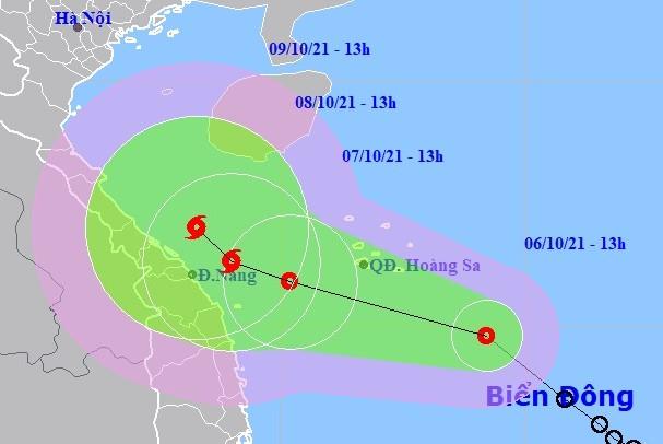 Áp thấp nhiệt đới mạnh lên thành bão trong 48 giờ tới