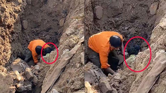 Sức khỏe người đàn ông đào được dưới hố sâu 2 m ra sao? - Ảnh 1.