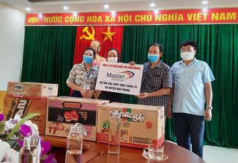 Masan Consumer tặng hàng ngàn sản phẩm thiết yếu đến các tuyến đầu chống dịch - Ảnh 1.